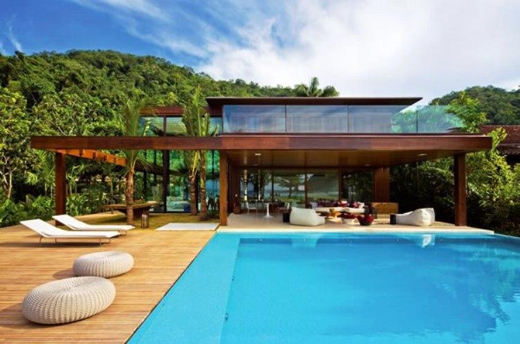 Casa de praia em paraty por bernardes jacobsen e for Plantas de casas modernas con piscina