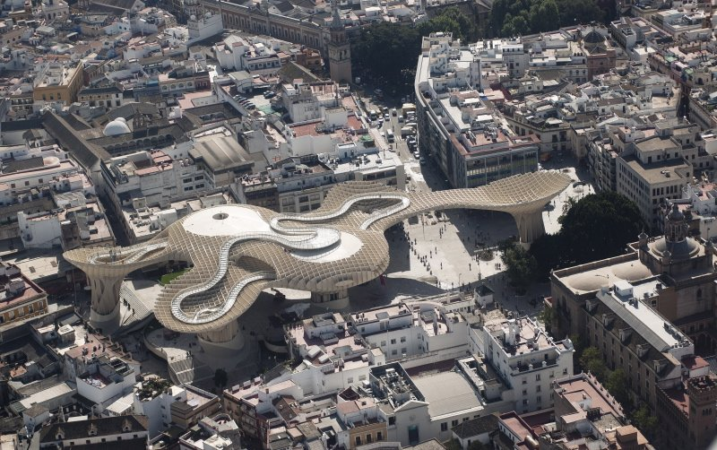 metropol parasol em sevilha por j mayer h architects. Black Bedroom Furniture Sets. Home Design Ideas