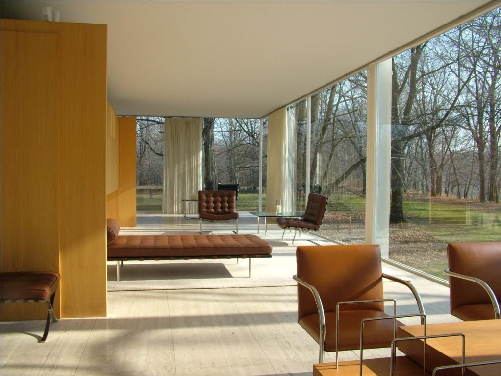 farnsworth house em illinois por mies van der rohe. Black Bedroom Furniture Sets. Home Design Ideas