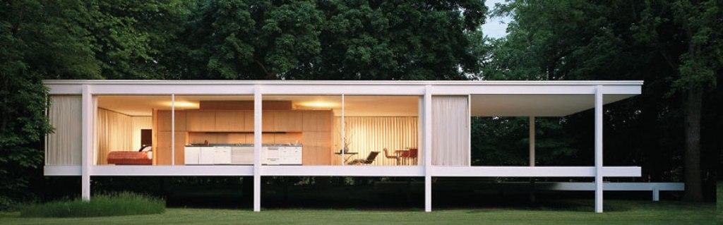 farnsworth house em illinois por mies van der rohe. Black Bedroom Furniture Sets. Home Design Ideas