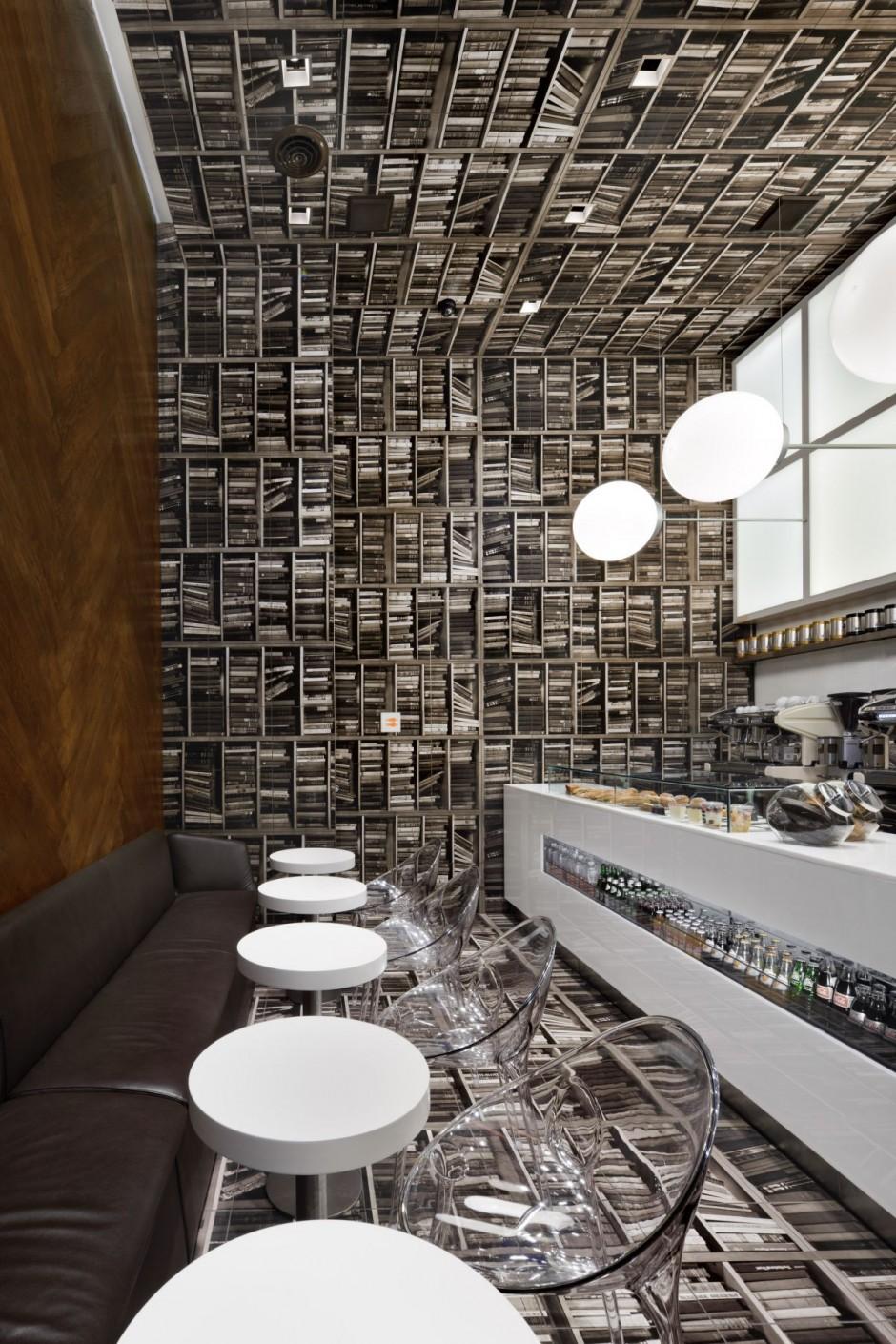 D Espresso Caf Interior Em Nova York Por Nema Workshop