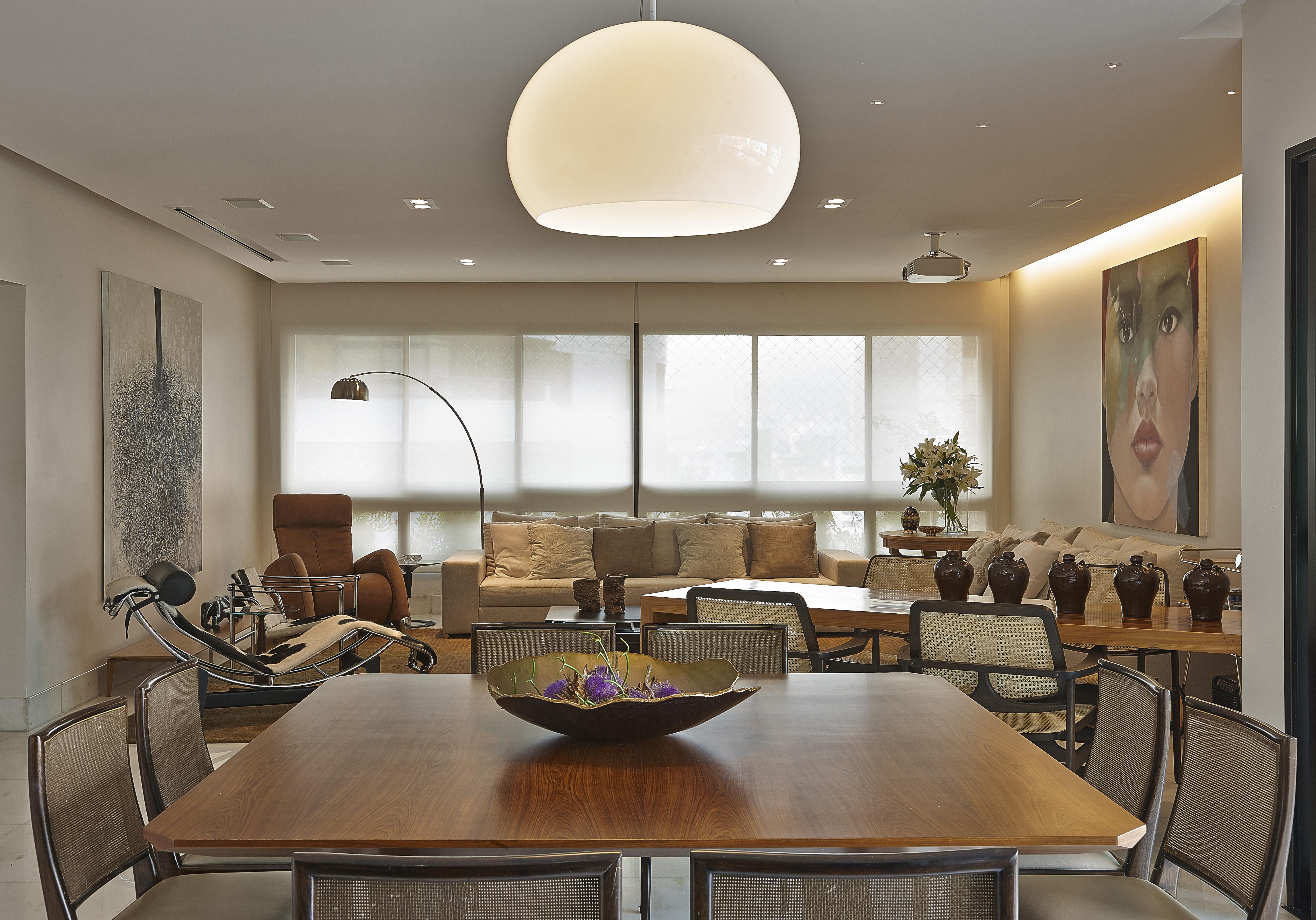 Apartamento  -> Lustres Para Sala De Jantar Com Mesa Quadrada